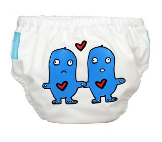 Charlie Banana® Schwimmwindel Trainingswindel 2-in-1 the fashion collection Lovey and Dovey auf weiß