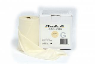 Thera-Band® 45,5m TRANSPARENT Super Dünn Extra Leicht Sparpack Theraband