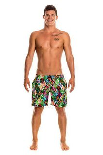Funky Trunks Mens Long Johnny Short Jungle Jam Herrenbadeshort