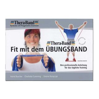 Thera-Band® Übungsband + Übungsbuch gratis ca. 2,5m lang maximale Stärke Gold